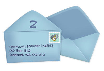 Address the second envelope to our mailer program location.